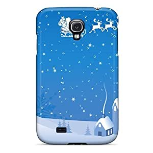 For Case Iphone 4/4S Cover Protector Case Winter Santa And Reindeer Phone Cover