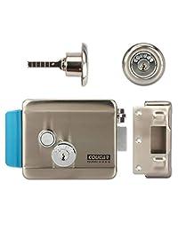 Amocam - Cerradura electrónica de puerta eléctrica de 12 V CC, soporte de bloqueo electrónico, instalación de puerta de metal de vidrio de madera a prueba de fuego, para control de acceso de timbre de puerta de teléfono de vídeo, 788
