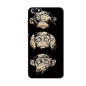 Cover It Up Three monkeys Hard Case for Huawei Honor 4X - Multi Color