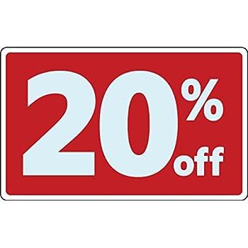 Amazon Com Sale 20 Percent Off Business Sign Retail