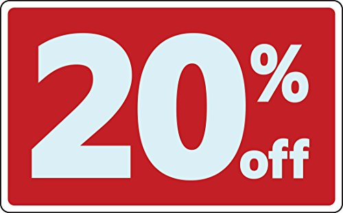 Sale 20% Percent off Business Sign Retail Store Discount Promotion Message