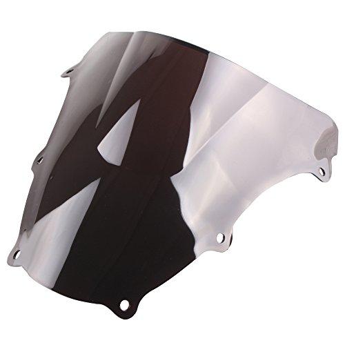 ble Motorcycle Windshield Windscreen for Suzuki SV650S 2003-2012 & SV1000S 2003-2008 ABS Plastic Smoke Black ()