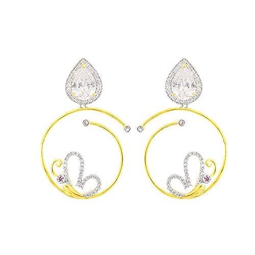 29f5b8278ef4 85% OFF fasherati CZ y cristal espiral mariposa pendientes para niñas