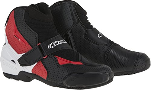 Alpinestars SMX-1 R Vented Boots (43) (BLACK/WHITE/RED)