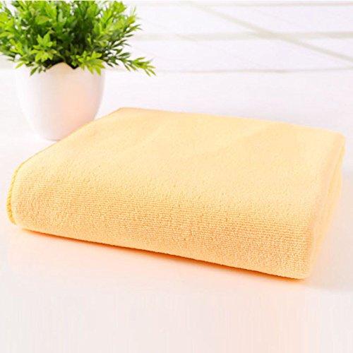Iulove_Bathroom Products 75x140cm Absorbent Microfiber Drying Bath Towel Washcloth Shower Orange