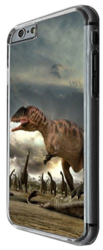 1057 - Cool fun dinosaur art t-rex triceratops stegosaurus spinosaurus (5) Design For iphone 4 4S Fashion Trend CASE Back COVER Plastic&Thin Metal -Clear