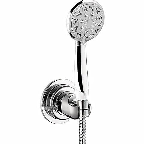 Shower Head Holder, GAOYU Universal Bathroom Wall Mount Handheld Shower Head Bracket Bidet Shattaf Spray Suction Cup Portable Shower Arms Slide Bars Adhesive Fixed Showerheads (Home Air Filter Holder)