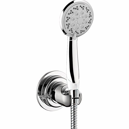 Shower Head Holder, GAOYU Universal Bathroom Wall Mount Handheld Shower Head Bracket Bidet Shattaf Spray Suction Cup Portable Shower Arms Slide Bars Adhesive Fixed Showerheads Chrome
