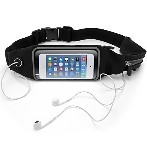 Resistant Running Belt Waist Pack Fitness Sport Touchscreen Waistband for Apple iPod Touch 4th, 5th, 6th Generation (Ipod Waist Belt)