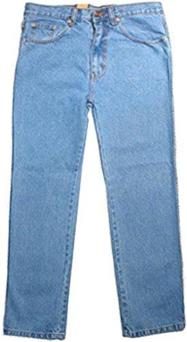 Herren Freizeit-Jeans Robust Mit Aztekendruck - Denim Hose Schrittlänge L29 - Blau, W40