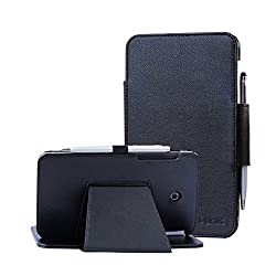 At&t Asus Memo Pad 7 Lte Case, I-unik Case For At&t Asus Memo Pad 7 Lte Gophone Prepaid Wal-mart (6725ame375cl) Tablet Pc Support Auto Sleep Awake Function [Bonus Stylus] (Black)