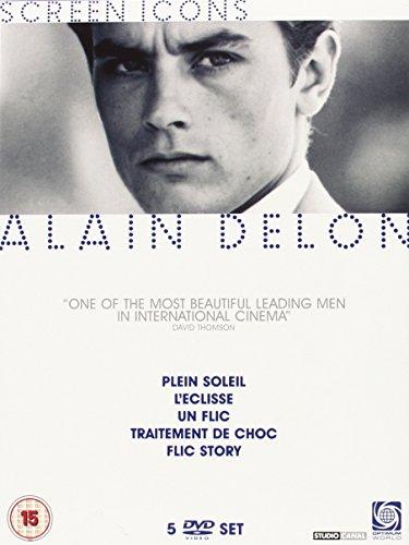 Alain Delon Collection - 5-DVD Box Set ( Plein soleil / L'eclisse / Un flic / Traitement de choc / Flic Story ) ( Purple Noon / Eclipse / A Cop / [ NON-USA FORMAT, PAL, Reg.2 Import - United Kingdom ]