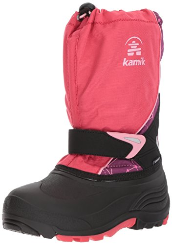 Kamik Kids Sleet2 Snow Boot Dark Rose Print