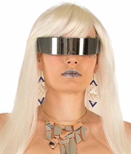 Futuristic Glasses Mirror Lens Wraparound Cyborg Lunettes Sci Fi -