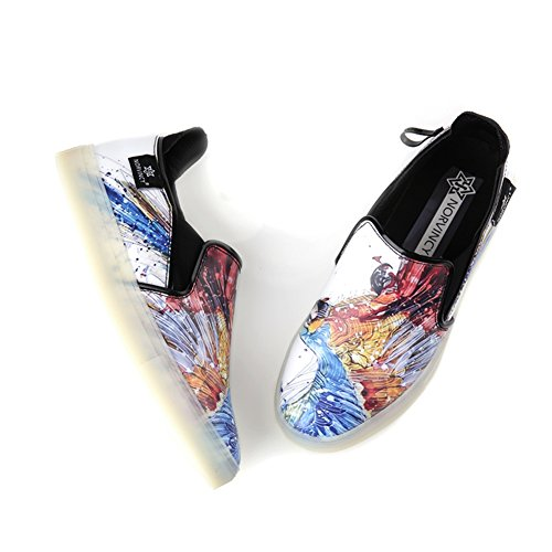 discount cheapest price Men's Casual Shoes Dress Adolescent Outdoor Fashion Canvas Shoes Slip On Personality White buy cheap Cheapest clearance pay with visa 8NR1SYvvH5