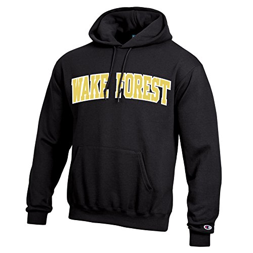 Champion NCAA Wake Forest Demon Deacons Men's Eco Powerblend Hooded Sweat Shirt, XX-Large, Black