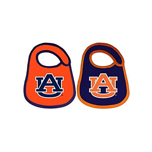 Game Day Outfitters NCAA Auburn Tigers Infant Bib Logo (2 Piece), One Size, Multicolor