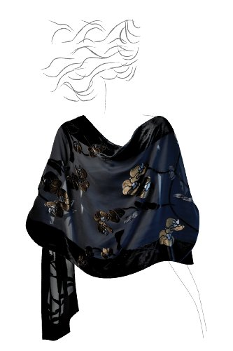 Based Burn out Velvet Shawl Orchid product image