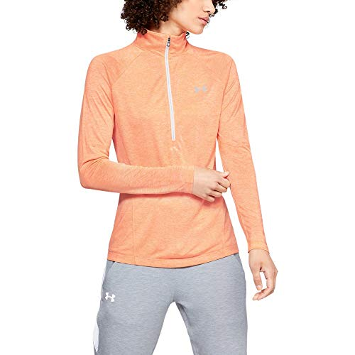 Under Armour Women's Tech Twist ½ Zip-Up, Peach Horizon, X-Large