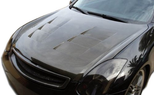 2003-2007 Infiniti G Coupe G35 Carbon Creations TS-1 Hood - 1 Piece (Kits Creations Carbon Body)
