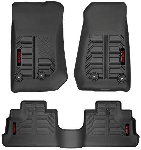 Black All Weather Protector 4 Pieces Set Floor mats Autotech Zone Custom Fit Heavy Duty Custom Fit Car Floor Mat for 2016-2018 Infiniti QX50 SUV