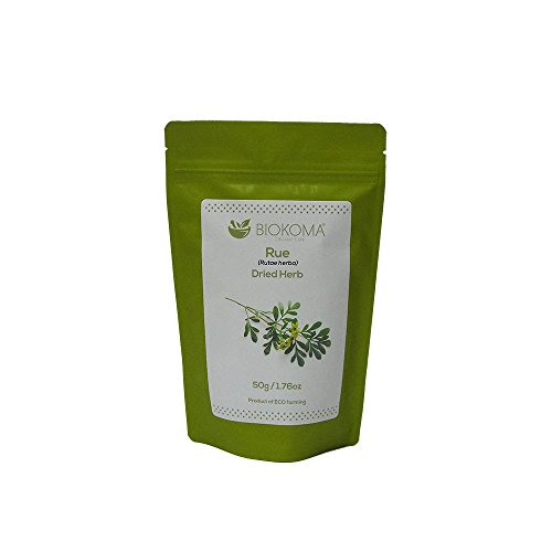 (100% Pure and Natural Biokoma Rue Dried Herb 50g (1.76oz) in Resealable Moisture Proof Pouch)
