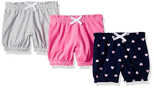 Heart Bloomers Pink - Amazon Essentials Baby Girls 3-Pack Bloomer, Pink/Blue Heart, Preemie