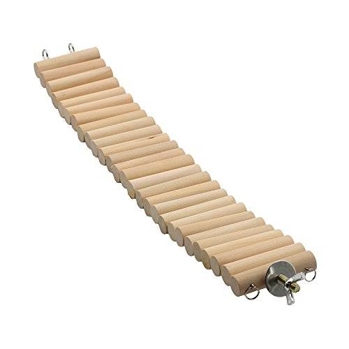 Natural Wood Bridge For Hamster Mice Chinchilla Chipmunk, Small Animals Habitat Toy HM-03