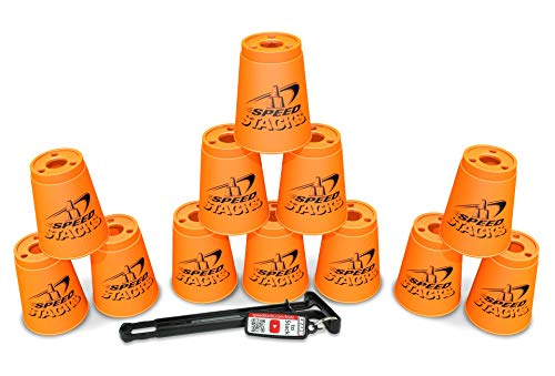 Sport Stacking with Speed Stacks Cups Neon Orange (Cup Stacking)