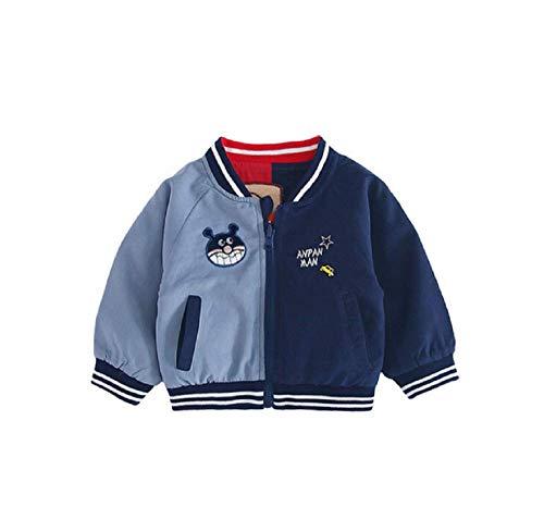Happy angel Boys Cartoon Jacket Bomber Jacket Casual Outwear(GrayN,130 (Grayn)