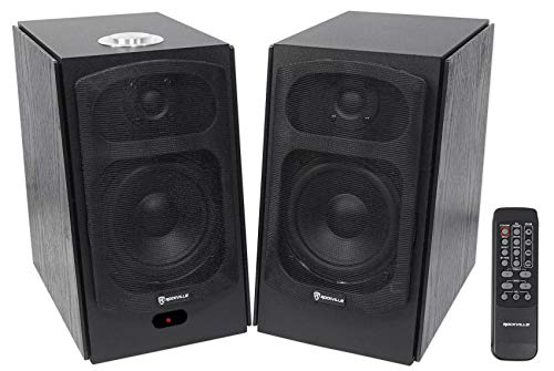 Rockville HD5B 150w Black Home Theater System Bookshelf Speakers/Bluetooth/USB