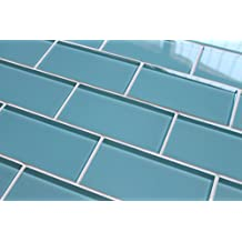 "3"" x 6"" SAMPLE - Infinity Blue 3x6 Glass Subway Tiles"