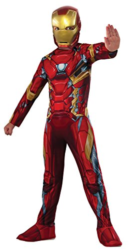 UHC Boy's Iron Man Civil War Theme Outfit Child Fancy Dress Halloween Costume, Child S (4-6)