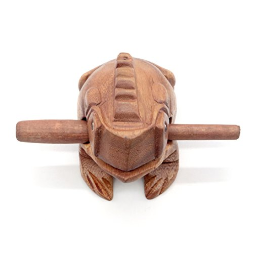 Wooden Frog Rasp Musical instruments of Africa Frog Rasp Super Guiro (4 Inch)