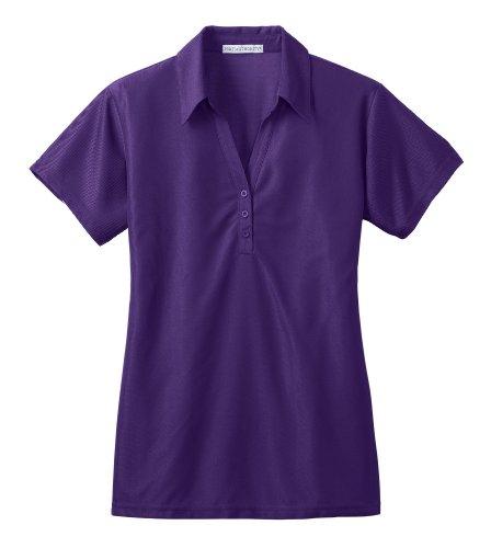 (Port Authority L512 Ladies Vertical Pique Sport Shirt - Majestic Purple - XXL)