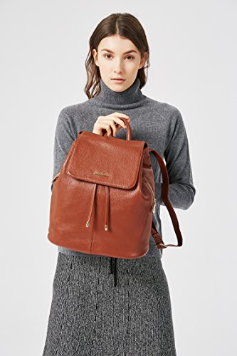 Brown Purse Shoulder School Casual Leather Bag Rucksack Women BOSTANTEN Black Backpack Ladies College Handbags pAAgOq