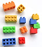 Brick Erasers & Sharpeners - 24 Pieces, Connects & Stacks Just Like Famous Building Blocks