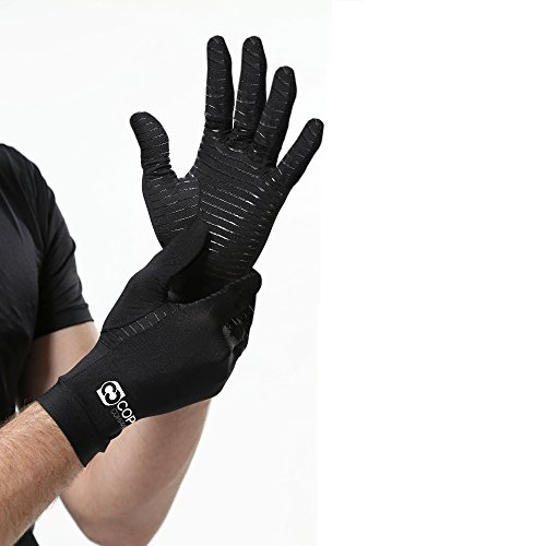 Copper Compression Full Finger Arthritis Gloves. Highest ...
