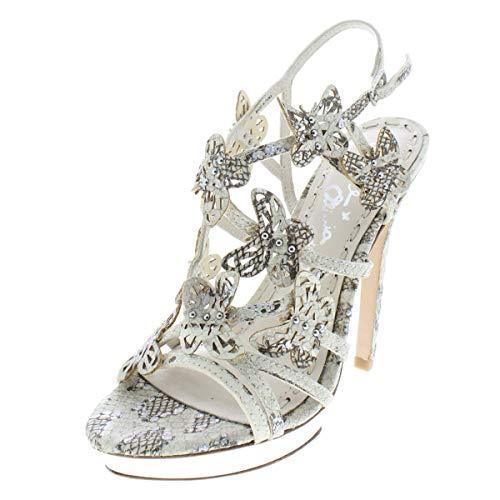 alice + olivia Womens Maria Leather Evening Sandals Ivory 36 Medium (B,M)
