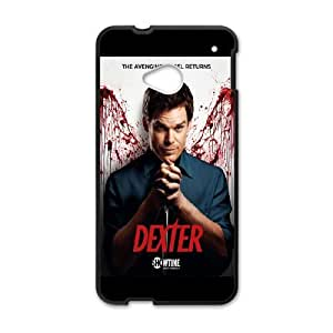 HTC One M7 Cell Phone Case Black Dexter-Blood Phone Case Cover Personalized Durable XPDSUNTR34924