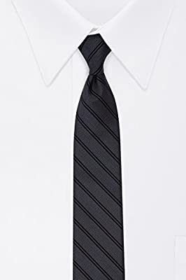 Calvin Klein Men's Mirror Double Stripe Skinny Tie