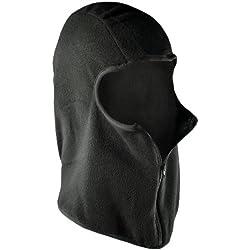 ZANheadgear Micro Fleece Balaclava with Zipper (Black)