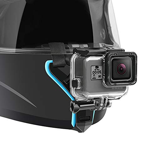 Motorcycle Helmet Chin Strap Mount Compatible with GoPro Hero 7, (2018), 6 5 4 3, Hero Black, Session, Xiaomi Yi, SJCAM