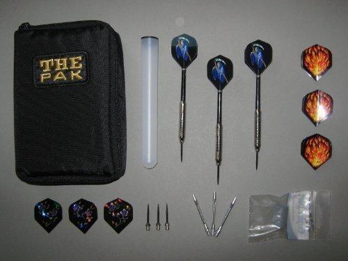 3 Chrom-Steel-Dart-Pfeile mit Dart-Tasche und Zubehör(4