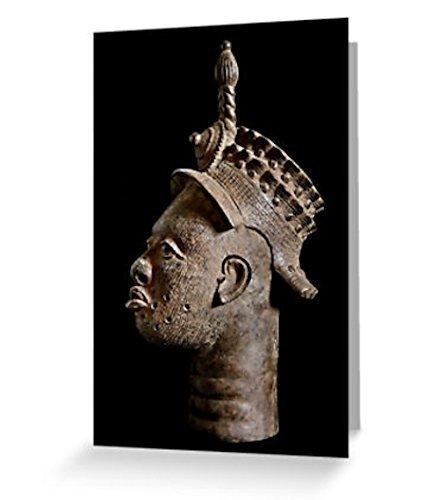 (African Art Greeting Card / Ife Royal Bronze Head / Blank Inside / Original Fine Art Photography)