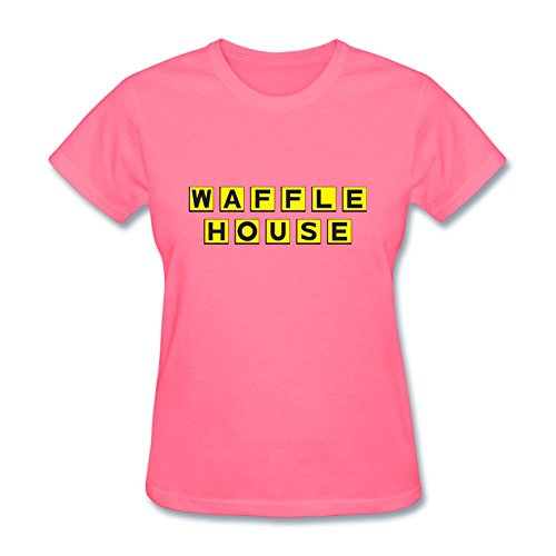 ZHENGXING Women's Waffle House Logo Short Sleeve T-Shirt XL ColorName - Ben Short Sleeve T-shirt
