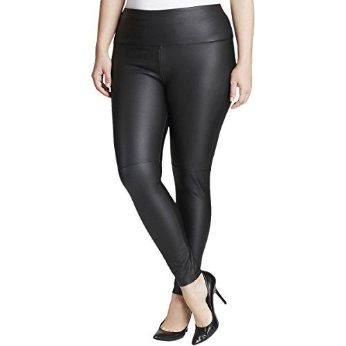 Lyssé Women's Size Plus Vegan Leather, Black 3X