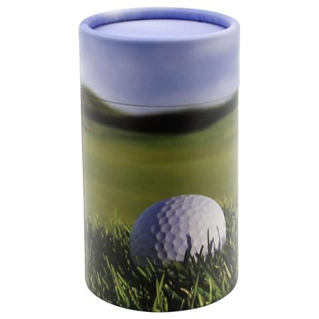 Silverlight Urns Golf Scattering Tube, Extra Small, Biodegradable Cremation Urn to Scatter a Small Amount of Human - Urn Design