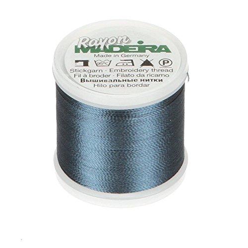 Tacony Corporation Madeira Rayon Thread Size 40 200 Meters-Medium Weathered Blue