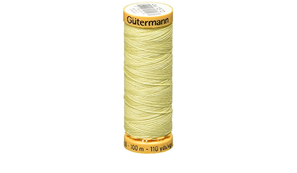 103C-1600 Gutermann Natural Cotton Thread 110yd-Yellow